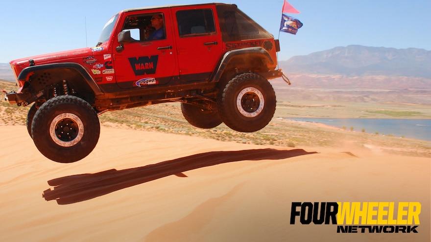 004 Chris Durham Jumping JK In Sand Hollow Utah During Ultimate Adventure 2017