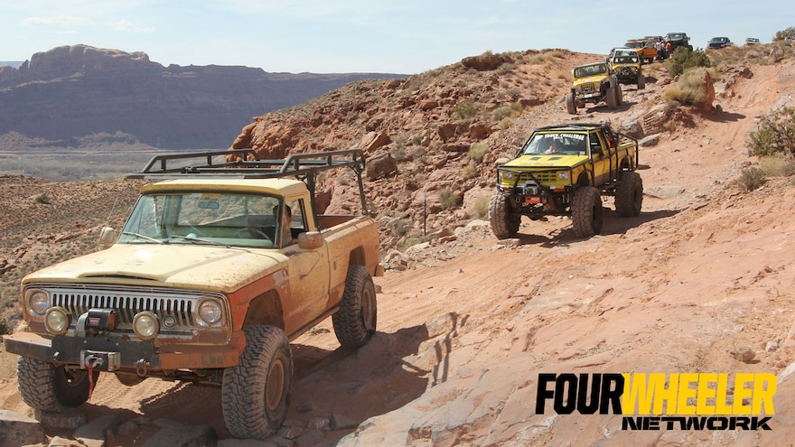 011 A Vintage Jeep Leads The Way On A Utah Trail