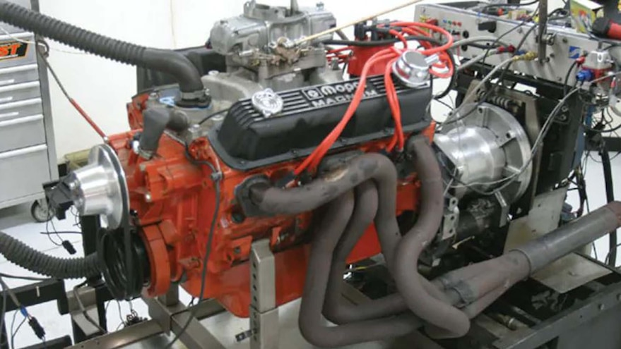 06 Z Small Block Mopar Engine Hooker Headers Side View