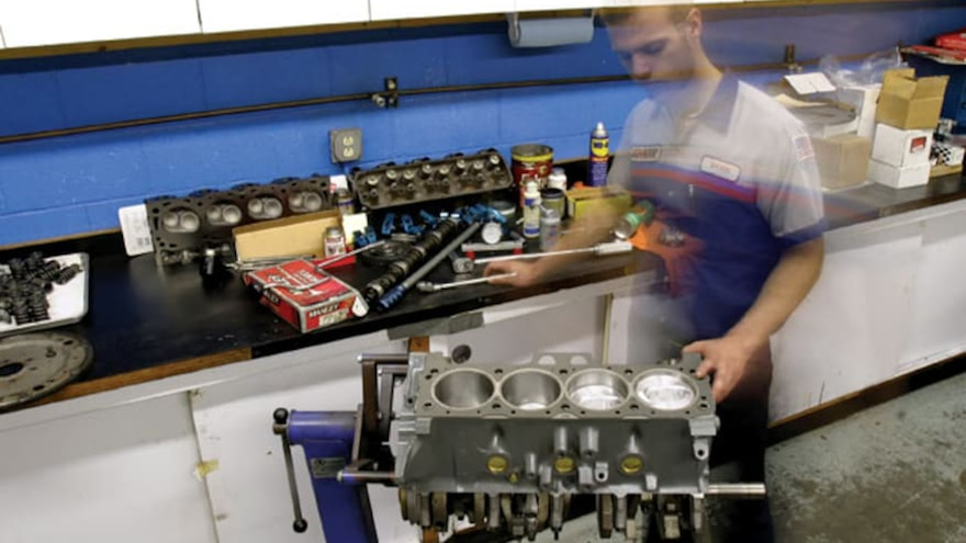 14 Big Block Ford Engine Build On The Engine Stand