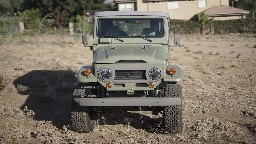 ICON FJ44 Old School Edition Front Of Vehicle Full View Far Away