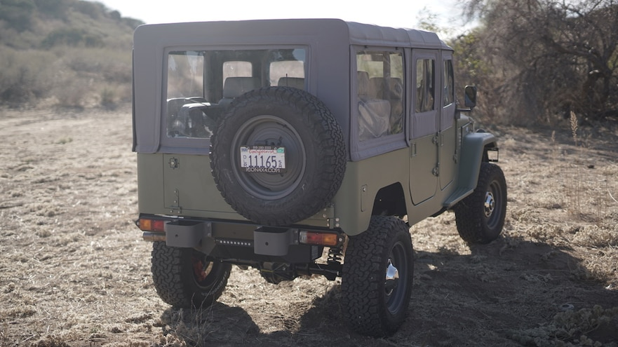ICON FJ44 Old School Edition Rear Side View Angle