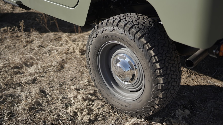 ICON FJ44 Old School Edition Rear Tire And Exhaust Pipe