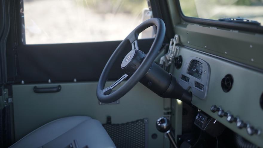 ICON FJ44 Old School Edition Steering Wheel And Dashboard