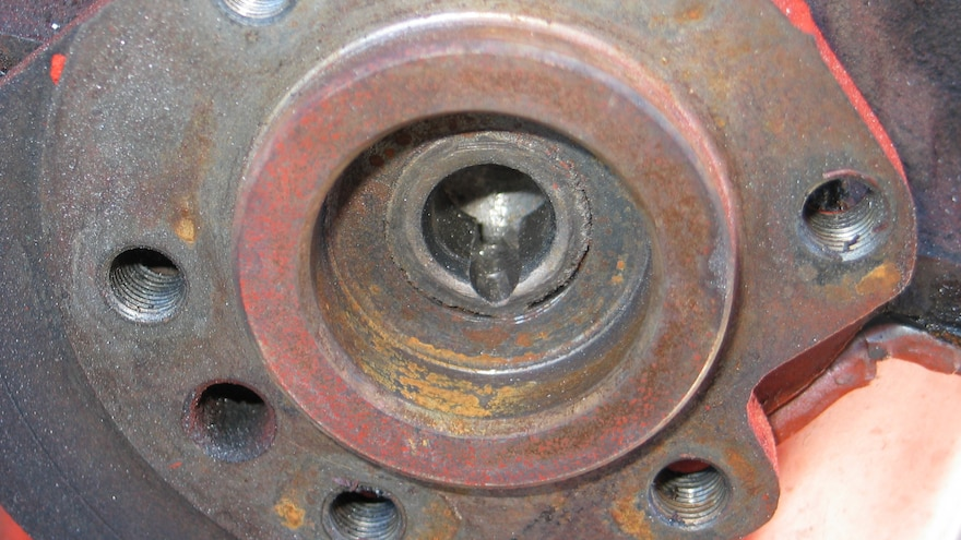 06 Cutting And Chiseling A Stuck Transmission Pilot Bushing Or Bearing