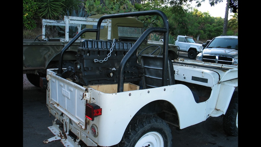 05 Using A Vintage 1948 Willys CJ2A To Haul A Jeep Engine