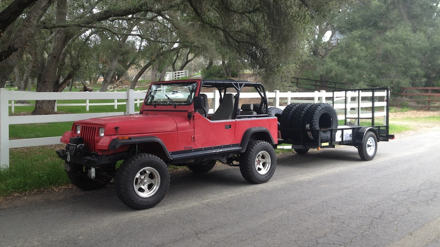 06 Using A Classic Jeep Wrangler YJ To Pull A Trailer