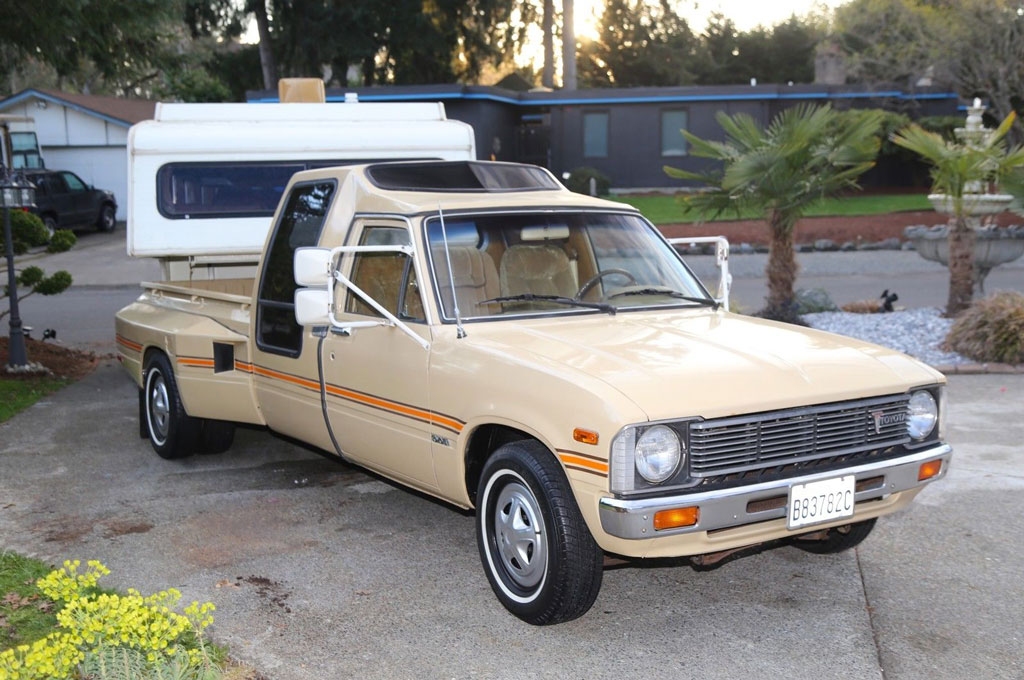 Find of the Week: 1981 Toyota Dualie Pickup with Matching Fifth-Wheel Camper