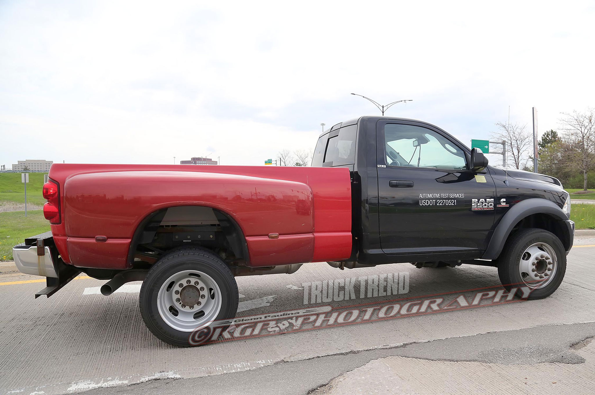 Ram Spied Testing a 5500 Heavy Duty with a Pickup Bed