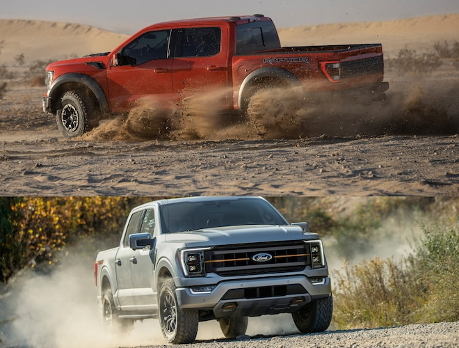 2021 Ford F-150 Raptor As opposed to 2021 Ford F-150 Tremor